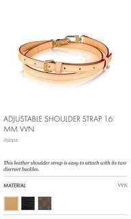 LV shoulder strap brand new
