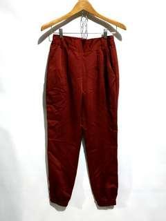 Maroon Joger Pants