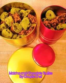 Matcha and Chocolate Truffles by Couple Chef