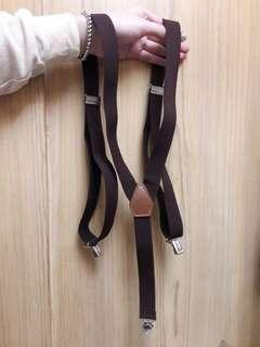 🚚 💖復古可愛ㄉ寬版咖啡色吊帶💖