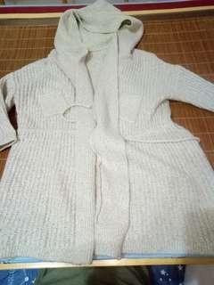 🚚 毛織長版外套