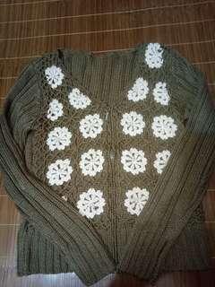 🚚 懷舊風珍珠針織外衣