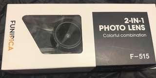 手機鏡頭Photo lens 2 in 1