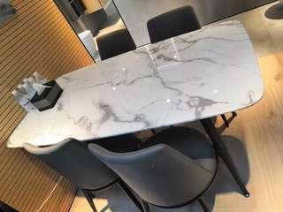 訂做優質大理石餐桌+椅組合Luxury marble Dining table