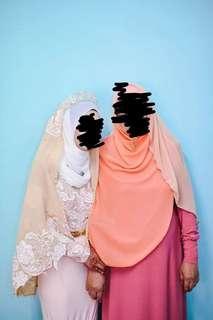 Baju Tunang / Nikah bodycon/duyung set veil