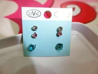🚚 全新簡約氣質藍色正方體耳環