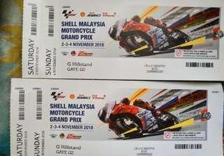 2 tiket moto gp hillstand