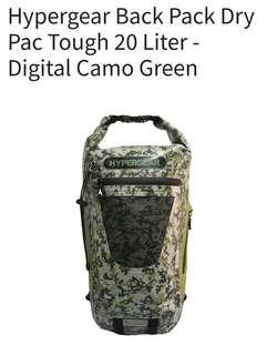 HYPERGEAR Back Pack Dry Pac Tough 20 Liter Digital Camo Green