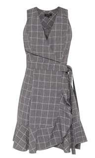 BN Grey Checkered Dress