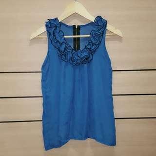 [NEW] Blue Chiffon Top