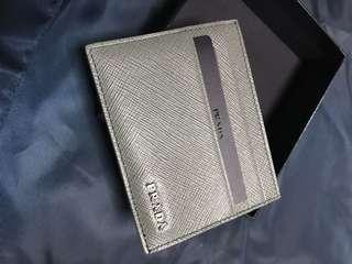 Authentic Prada Saffiano Two Color Card Case