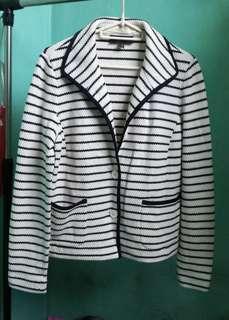 Talbots stripes coat