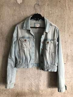 Forever 21 cropped denim jacket.
