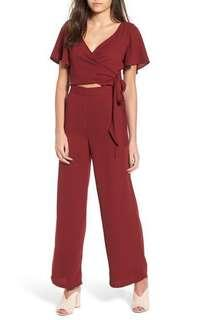 Nordstrom Leith Red/Burgundy Jumpsuit