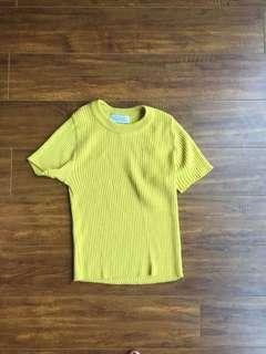 Small Cropped Mustard Sweater
