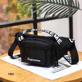 570cb3db73ef1d Tas pinggang Supreme pria dan wanita bahan cordura - Sling bag F48 - Hitam