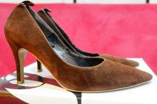 Suede Brown Heels
