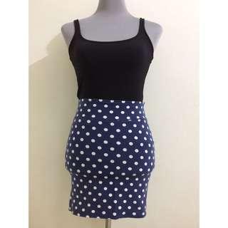 Polka Mini Skirt