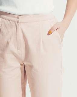 🚚 轉賣-Meierq 俐落挺版修身直筒長褲 全新 L號