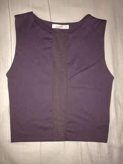 Purple Sleeveless Top With Mesh - Supre