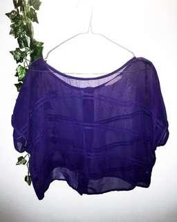 Purple see through top - Size S - $10 + postage 💕