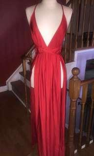 reduced Red maxi dress