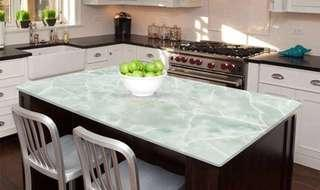 In Stock Green Marble Stickers