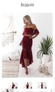 BRAND NEW TWO SISTER LABEL TWO PEICE DRESS