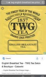 Twg tea authentic brand new English breakfast tea