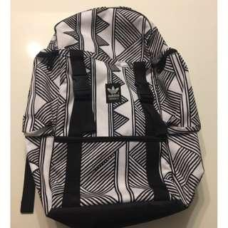 Adidas geometric black & white backpack