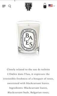 Diptique - Baies / Berries Candle