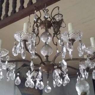 Antique Vintage 8-bulb Chandelier