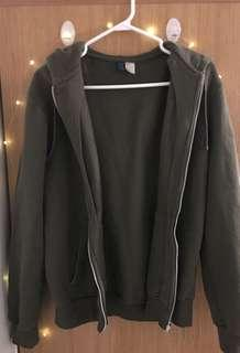 Soft Olive hoodie zipup (H&M from guy's section)