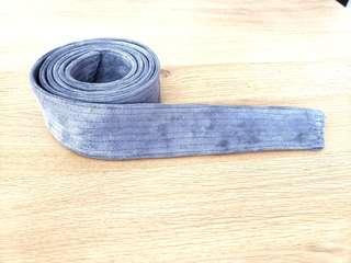 Suede grey festival belt