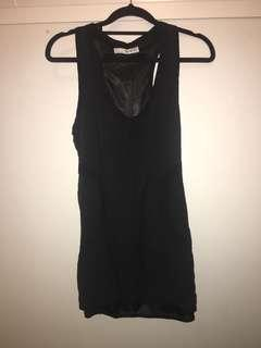 TRF Black bodycon dress
