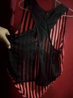 top stripes model blkang sexy