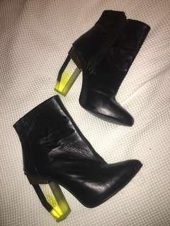 Funky black boots