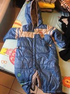 防風連身外套款 85公分