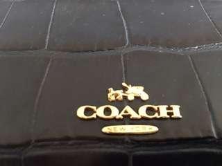 Coach Gramercy  鱷魚皮壓花皮革手挽袋