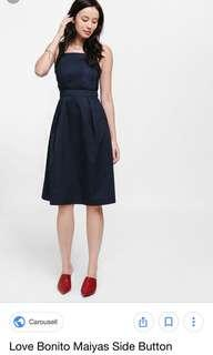 LB maiyas side button midi dress