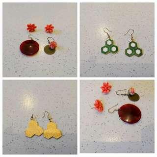 日本古著耳環👏三對特賣🎉