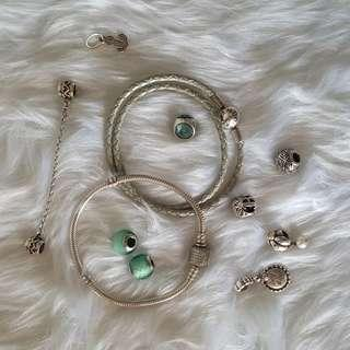 Authentic PANDORA bracelets and charms