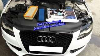 #jetexfilters_audi. #jetexfiltersasialink.  Audi A4 2.0T B8 in the house to replace Jetex high flow performance drop in air filter with 1.14 kpa flow rate washable and reusable..