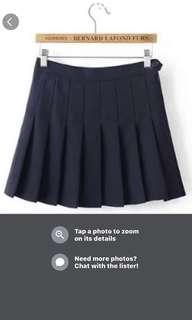 American Apparel inspired tennis pleated skirt