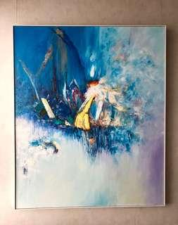 Painting Acrylic Abstract Original 1.5 x 1.8m frame