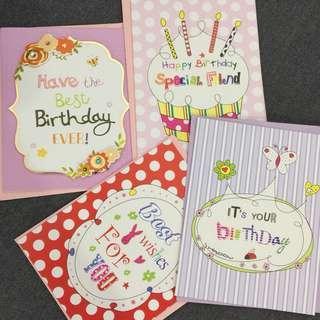 Blank Birthday Cards