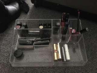 Clear makeup organiser glam box