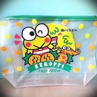 全新 日本製 kerokerokeroppi keroppi sanrio 青蛙 防水袋