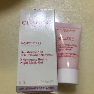 Clarins White Plus Pure Transparency Brightening Revive Night Mask Gel