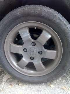 "Sport rim 15"" & tyre for sale"